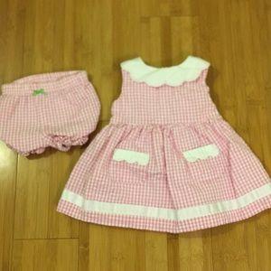 3-6M Hartstrings Pink/White Gingham Dress